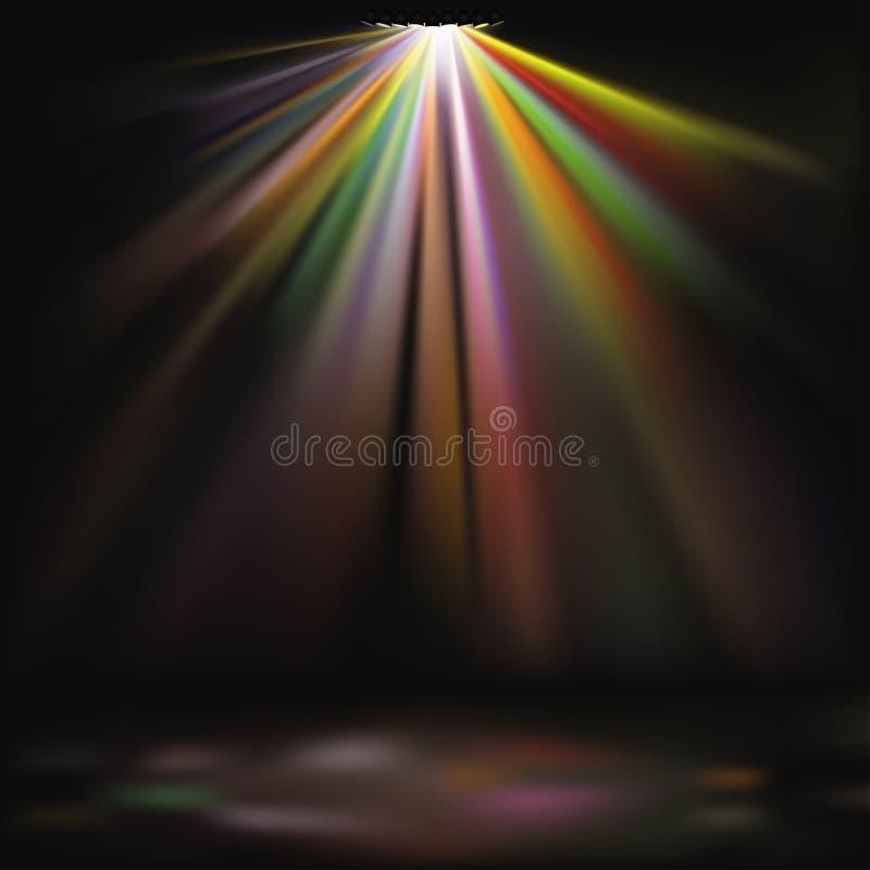 Disco-Leuchten stock abbildung