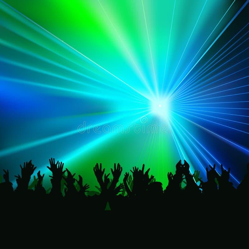 Disco-Leuchten lizenzfreie abbildung