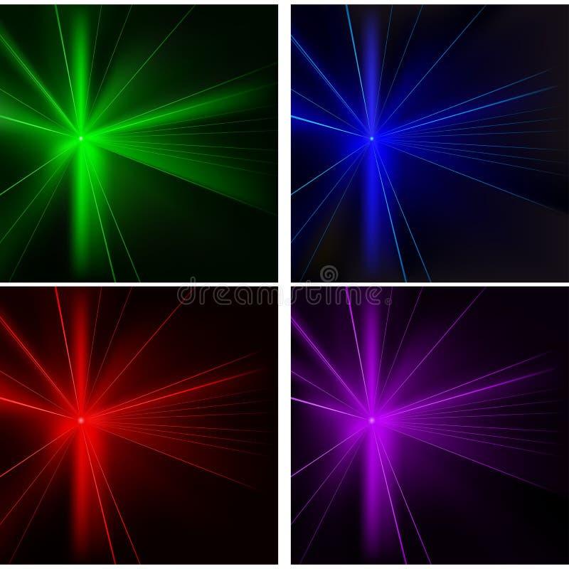 Disco-Leuchten stellten ein stock abbildung