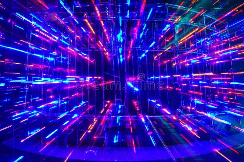 Disco lights stock photography