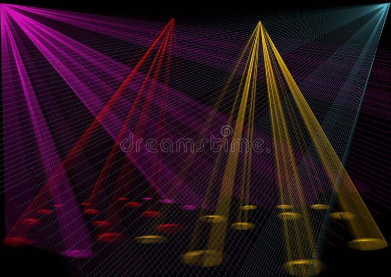 Download Disco lights stock vector. Illustration of light, technique - 3878809
