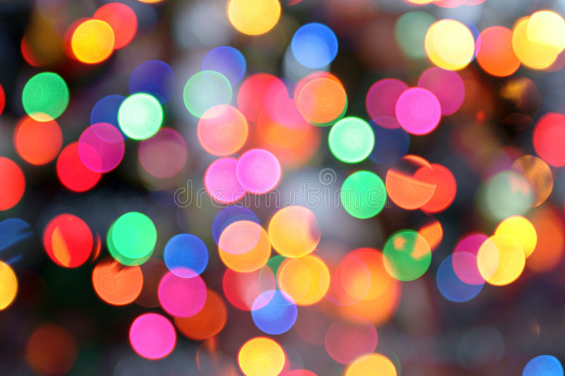 Disco lights. Colored circular lights blur royalty free stock photo