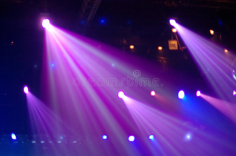 Disco lights. Real shot of lights in a night club, no noise and real colors stock images