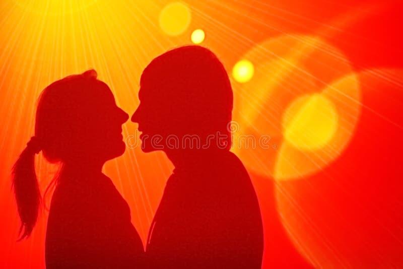 Disco loving dos pares imagens de stock royalty free