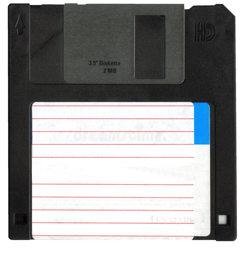 A disco magnetico fronte fotografia stock libera da diritti