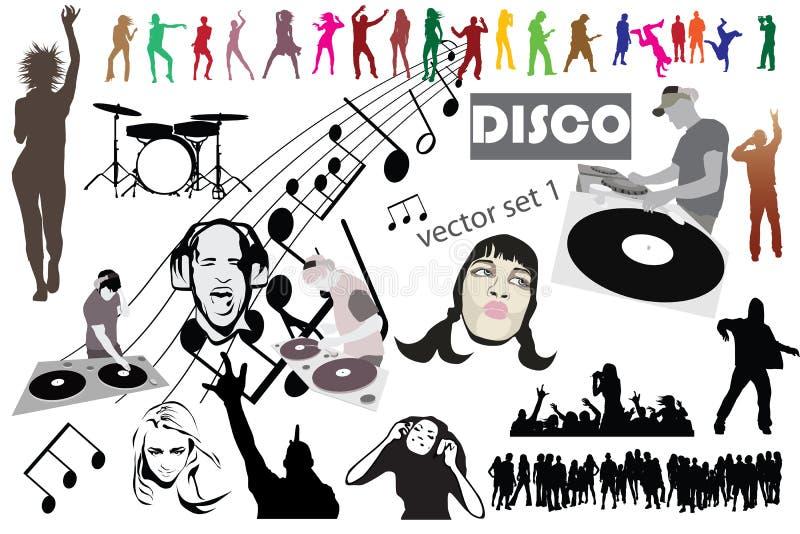 Disco mega set mix royalty free stock images