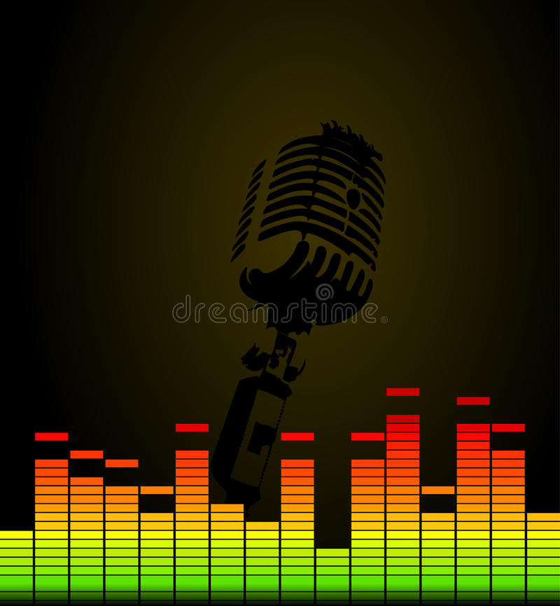Disco microphone royalty free illustration