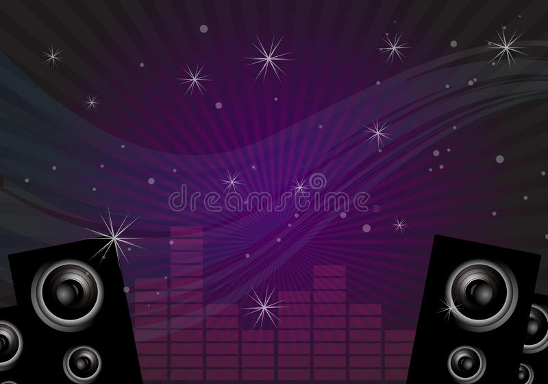 Download Disco music background stock vector. Image of amplifiers - 15303672
