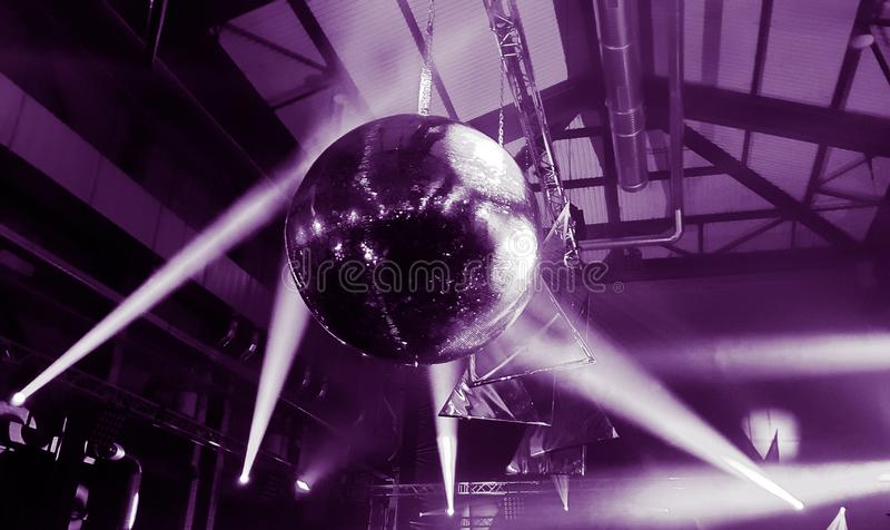 Disco mirror ball party lights stock photos