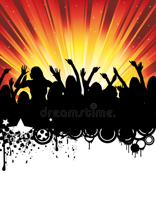Download Disco Music Party Flyer Dancing People Stock Vector - Illustration: 11014568