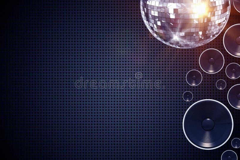 Disco-Musik-Hintergrund vektor abbildung