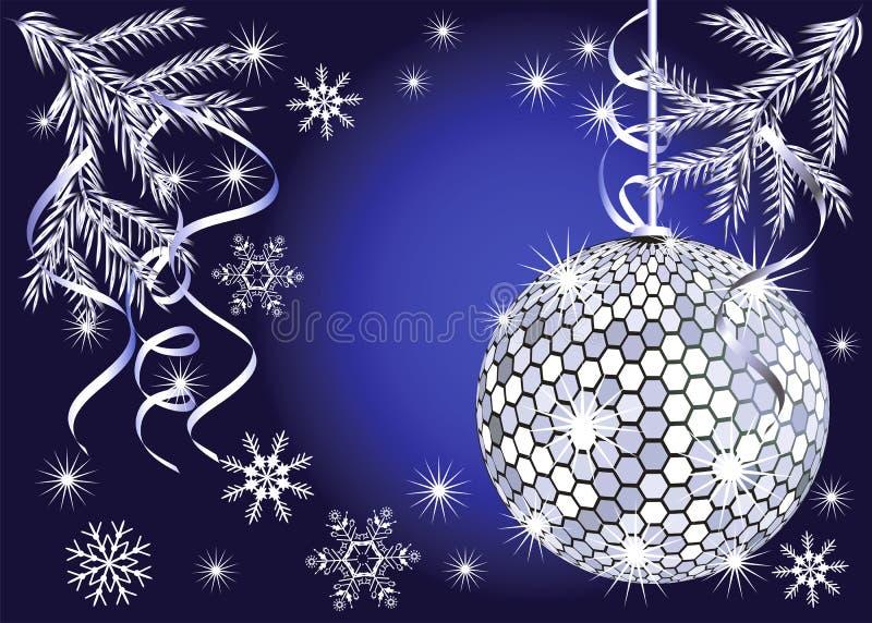 Disco no ano novo ilustração do vetor