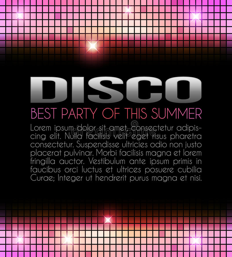 Disco Party Design royalty free illustration