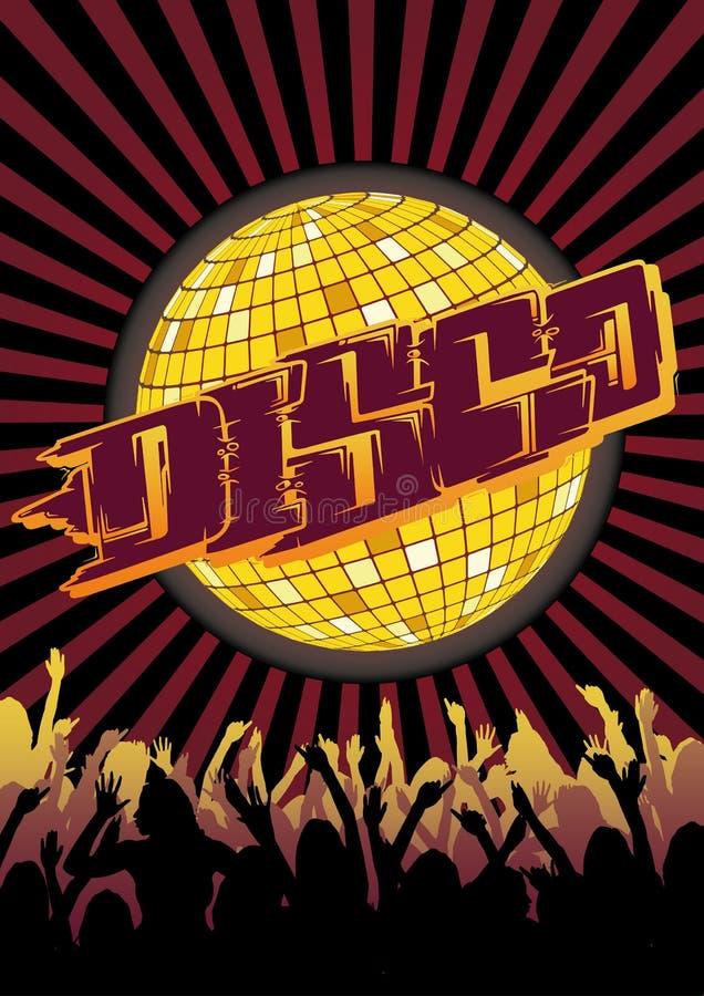 Download Disco Party Flyer Graffiti stock vector. Image of tekno - 19072160