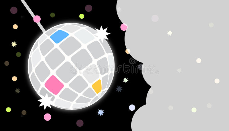 Disco party invite card template royalty free illustration