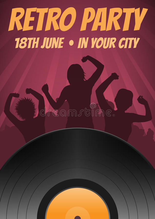 Disco party poster vector illustration