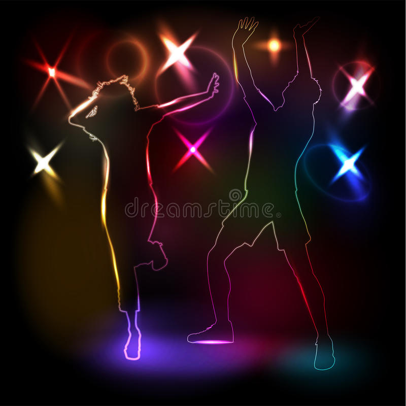 Disco People Royalty Free Stock Photo