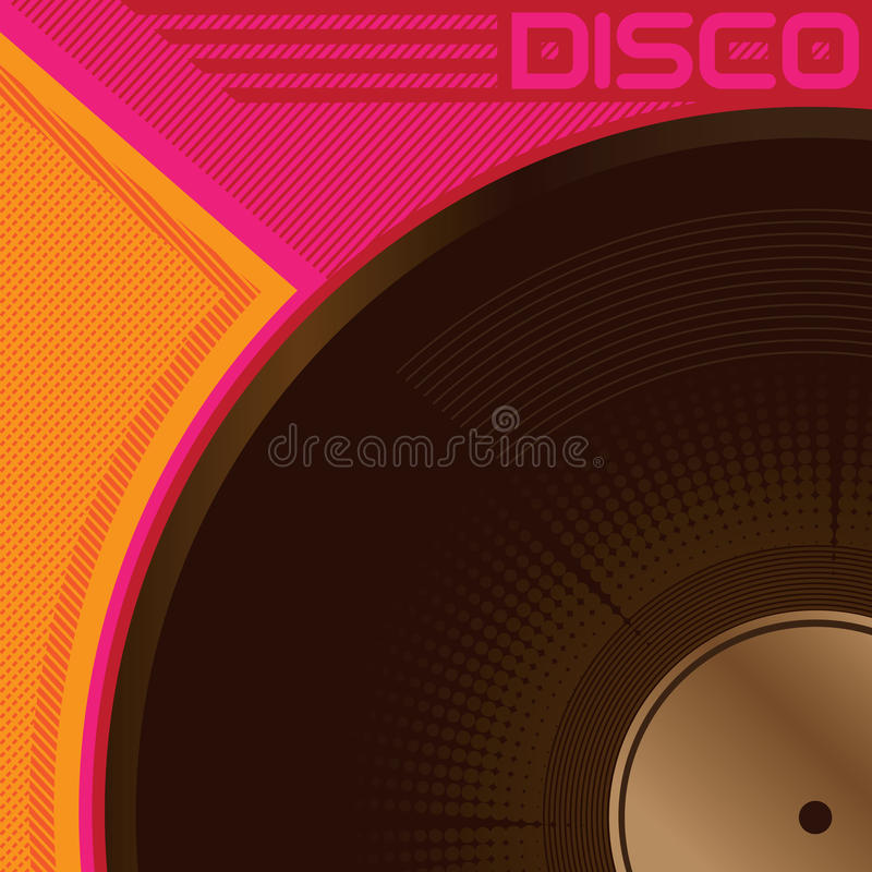 Free Disco Poster Royalty Free Stock Photography - 9865837