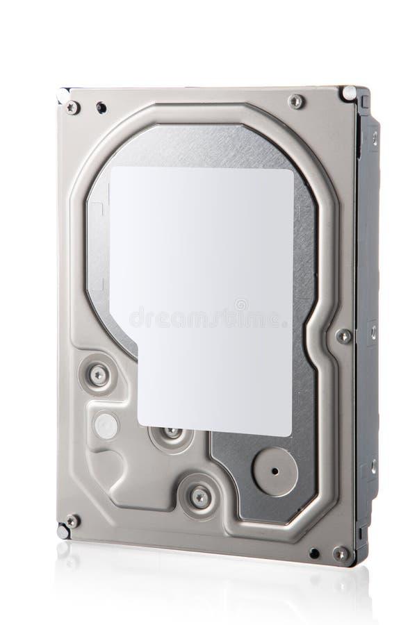 Disco rígido do computador isolado em fundo branco foto de stock