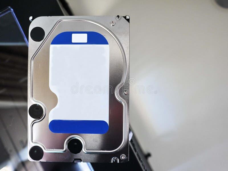Disco rigido con computer personale per la memorizzazione media e degli altri dati Dettagli e immagine stock