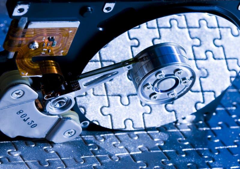 Disco rigido sul puzzle fotografia stock libera da diritti