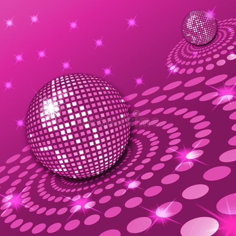 Disco rose illustration de vecteur
