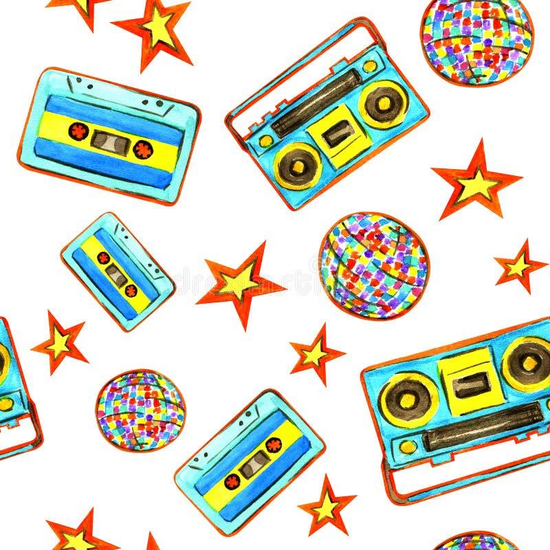 Disco 80s libre illustration