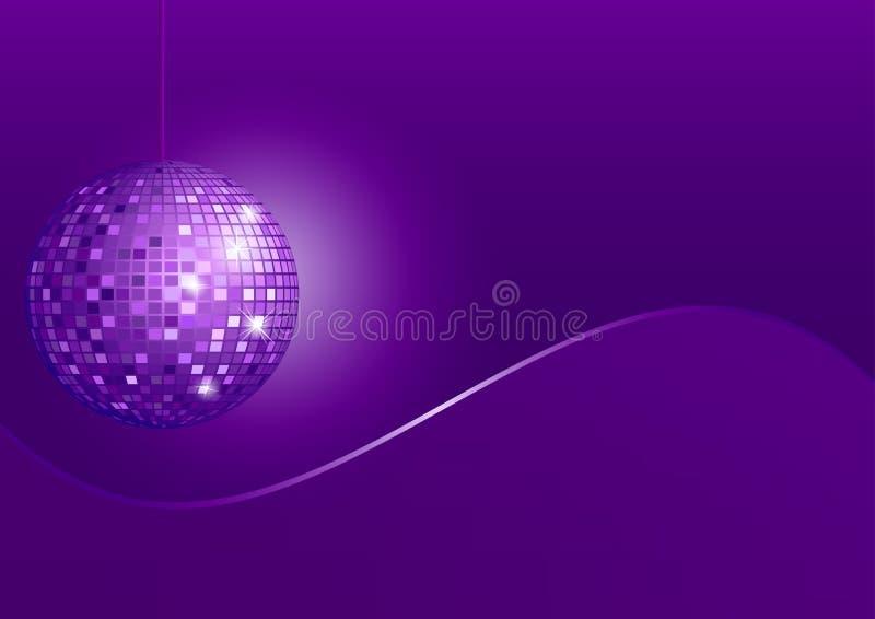 Disco Sphere Disco Sphere On Violet Background Stock Image