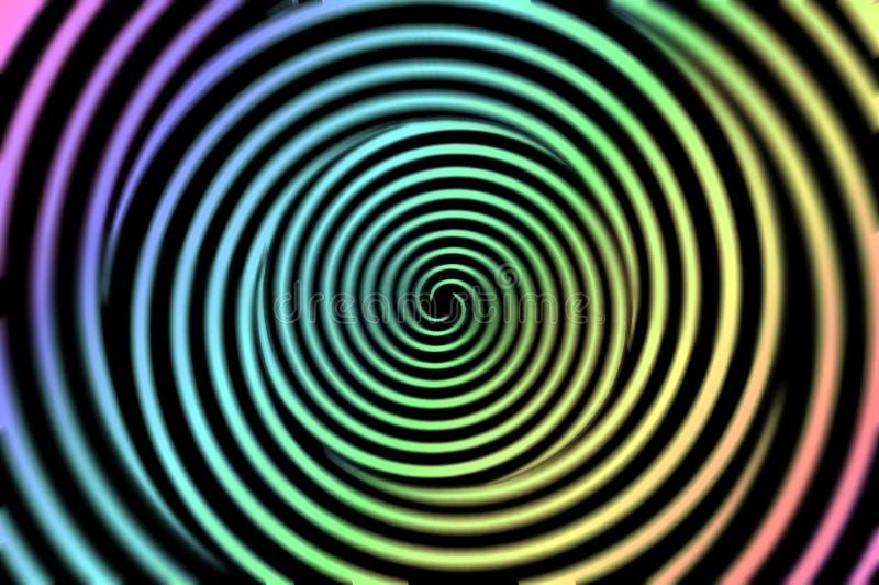 Disco a spirale ipnotico fotografia stock