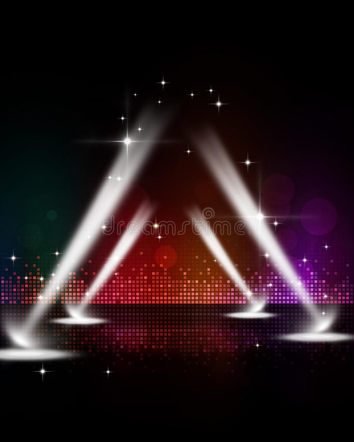 Disco-Stadiums-Scheinwerfer lizenzfreie stockfotos