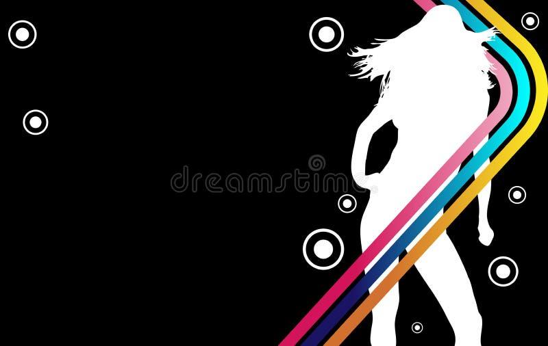 Disco Stripes Girl royalty free illustration