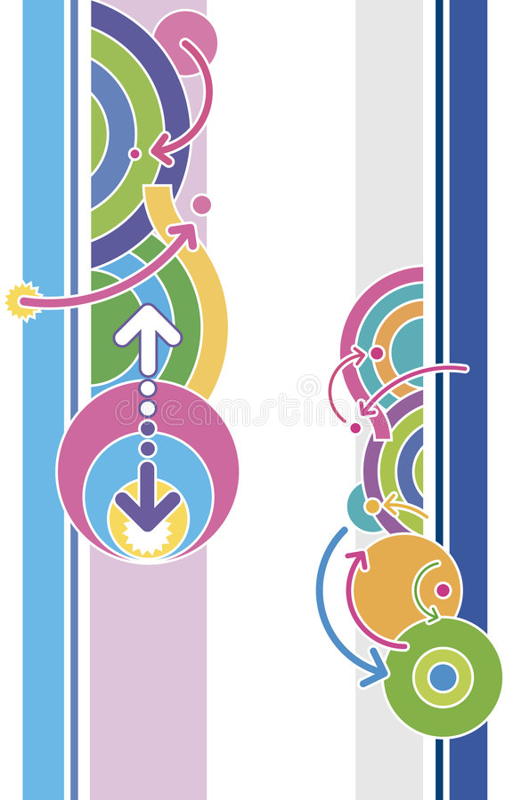 Disco style graphics vector illustration