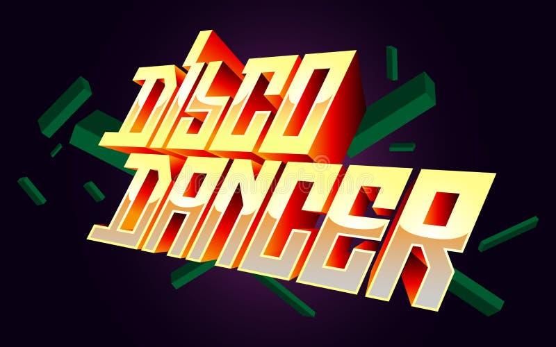 Disco-Tänzer-Shirt-Auslegung stockbild