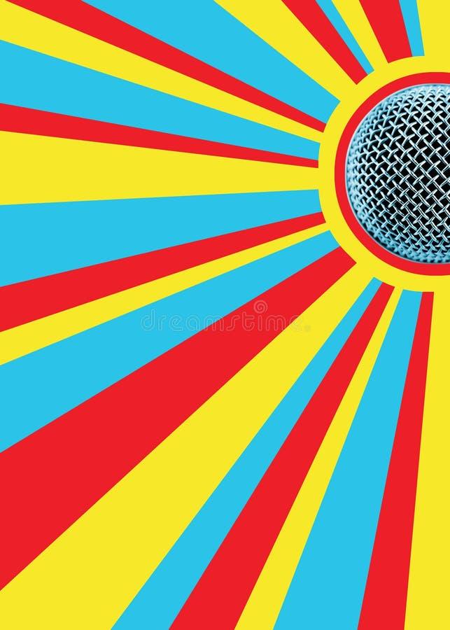 disco tła mic do sunny ilustracja wektor