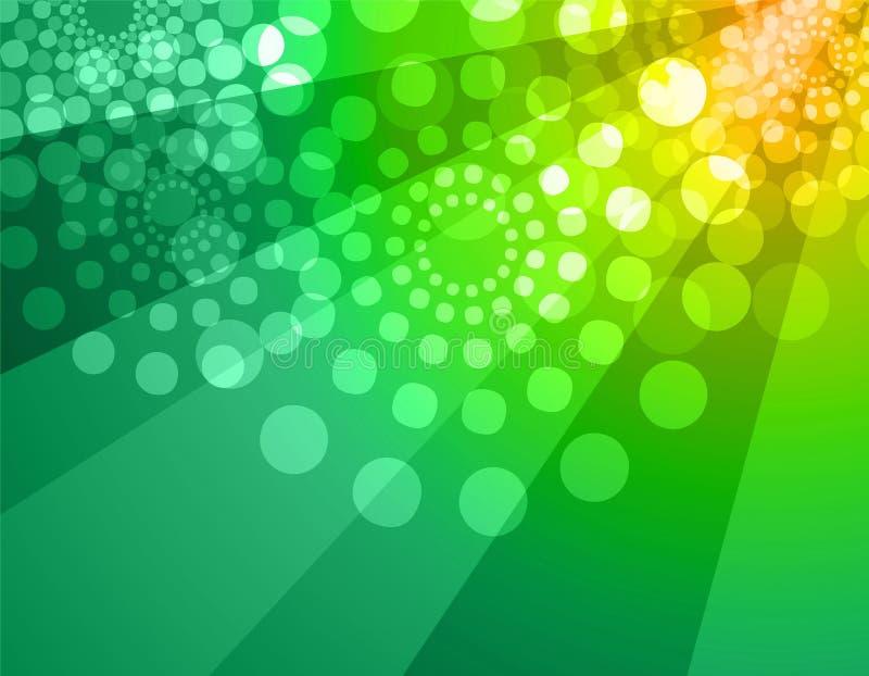 disco tła zielone żółty ilustracja wektor