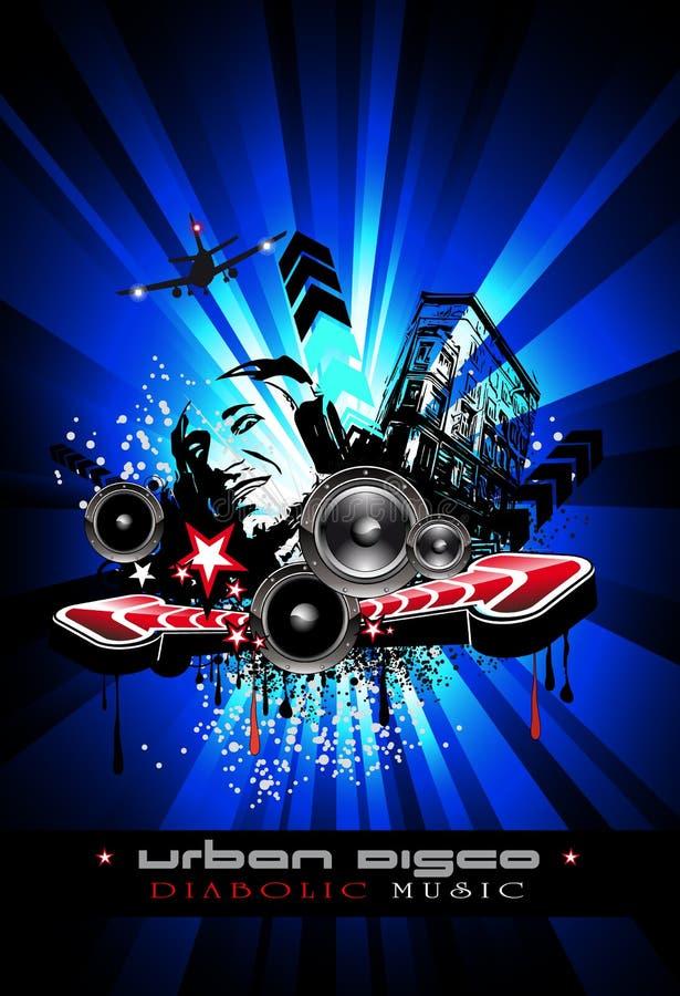 Disco-Tanz-Ereignis-Hintergrund vektor abbildung