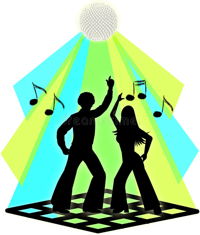 Disco-Tanz-Paare lizenzfreie abbildung