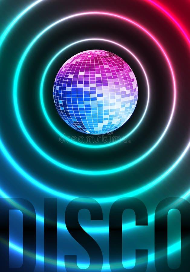 Disco Theme With Mirror Ball Stock Photos