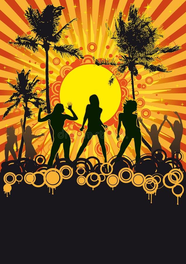 Disco tropical del partido de la playa libre illustration