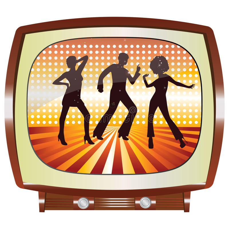 Disco TV illustration libre de droits