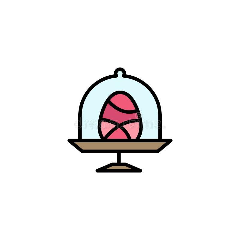 Disco, uovo, alimento, affare Logo Template di Pasqua colore piano illustrazione di stock