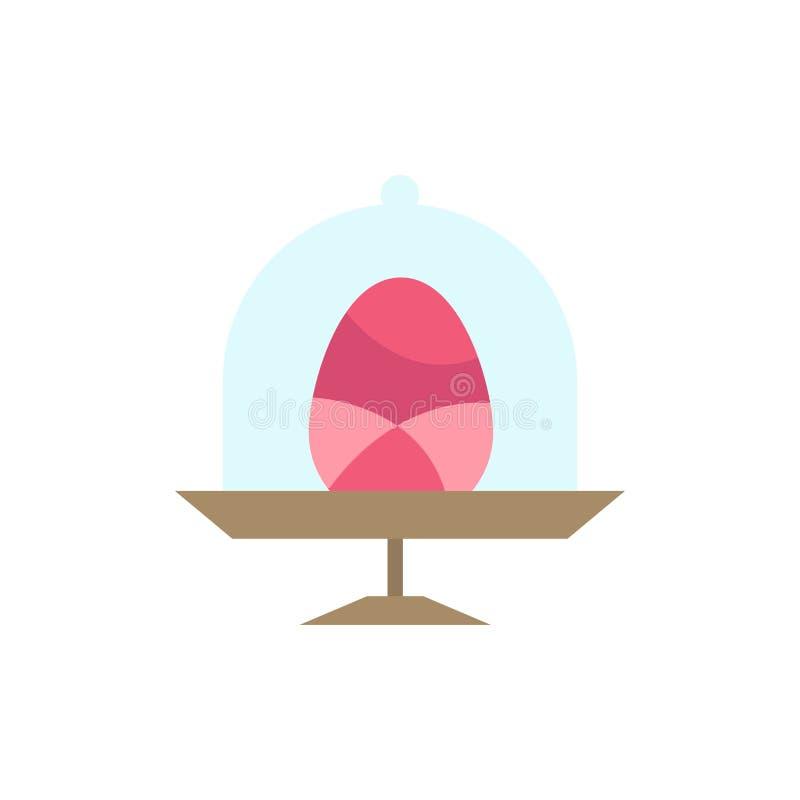 Disco, uovo, alimento, icona piana di colore di Pasqua Modello dell'insegna dell'icona di vettore royalty illustrazione gratis