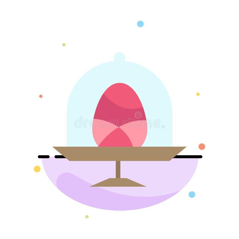 Disco, uovo, alimento, modello piano dell'icona di colore dell'estratto di Pasqua royalty illustrazione gratis
