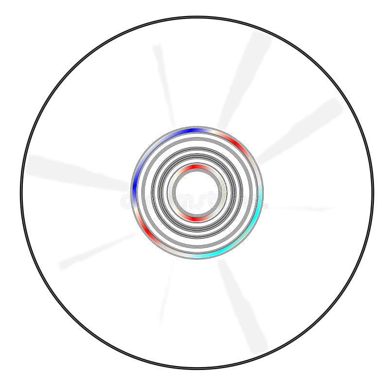 Disco vazio do CD ilustração do vetor