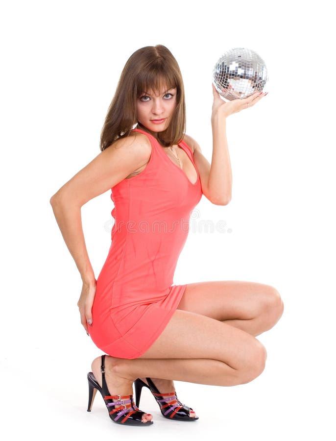 discoball κορίτσι προκλητικό στοκ φωτογραφία με δικαίωμα ελεύθερης χρήσης