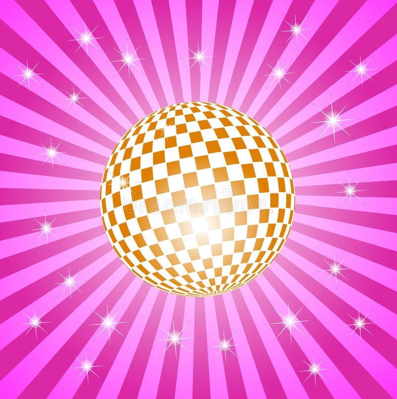 Discoball com estrelas ilustração do vetor