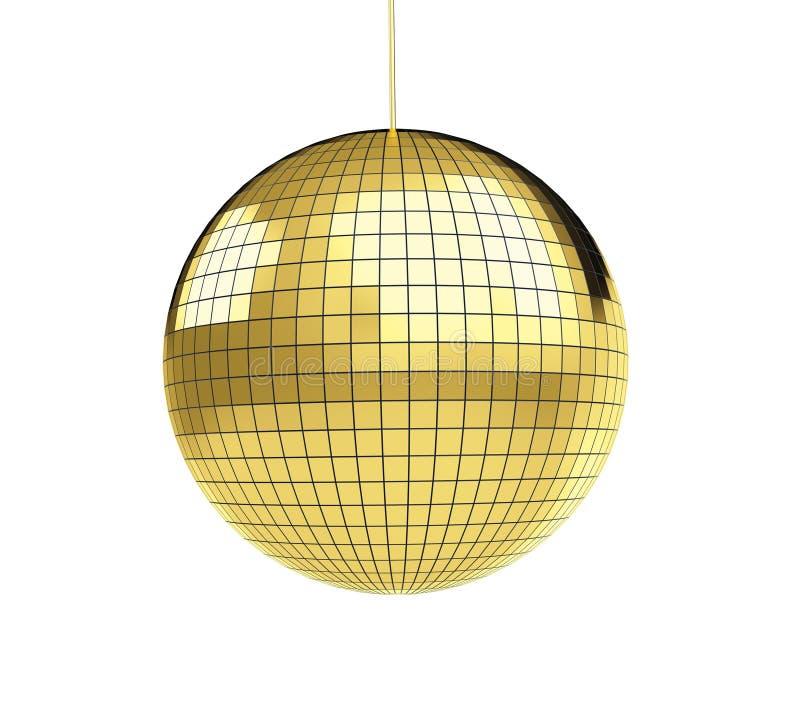 Discoball do disco do ouro ilustração royalty free