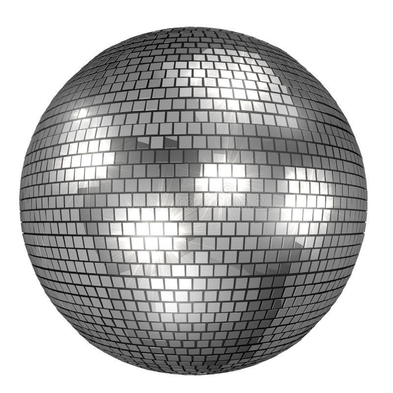 Discoball ha isolato su fondo bianco royalty illustrazione gratis