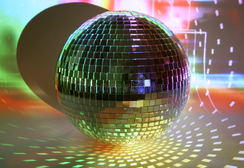 Download Discoball lights stock image. Image of glisten, club, sahpes - 521853
