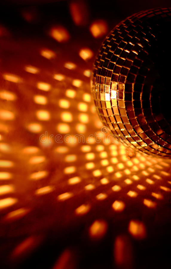 Discoball lights club royalty free stock photography